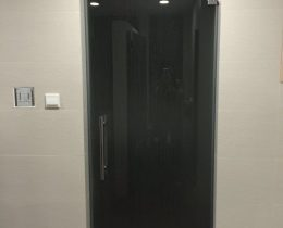 Grey tinted tempered glass door