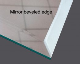 edges of glass and mirror